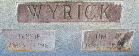 WYRICK, JR., JIM (CLOSEUP) - Lafayette County, Arkansas | JIM (CLOSEUP) WYRICK, JR. - Arkansas Gravestone Photos