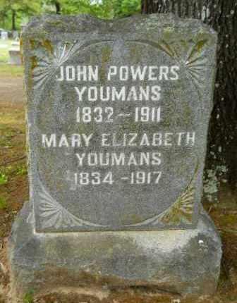 YOUMANS, JOHN POWERS - Lafayette County, Arkansas | JOHN POWERS YOUMANS - Arkansas Gravestone Photos