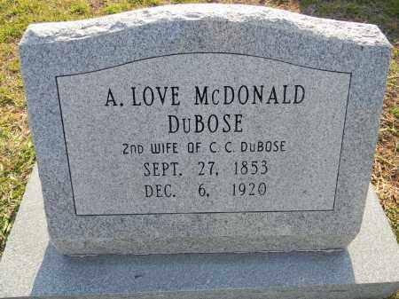 DUBOSE, A LOVE - Lafayette County, Arkansas | A LOVE DUBOSE - Arkansas Gravestone Photos