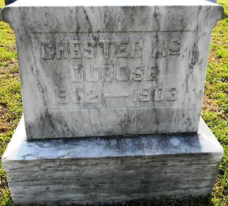 DUBOSE, CHESTER MC - Lafayette County, Arkansas   CHESTER MC DUBOSE - Arkansas Gravestone Photos