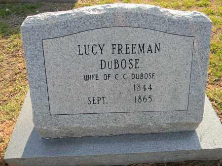 FREEMAN DUBOSE, LUCY - Lafayette County, Arkansas | LUCY FREEMAN DUBOSE - Arkansas Gravestone Photos