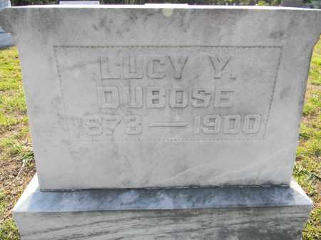 DUBOSE, LUCY Y - Lafayette County, Arkansas | LUCY Y DUBOSE - Arkansas Gravestone Photos
