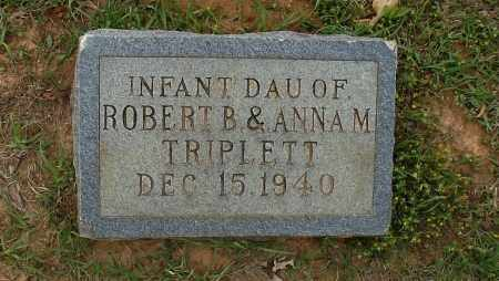 TRIPLETT, INFANT DAUGHTER - Lafayette County, Arkansas | INFANT DAUGHTER TRIPLETT - Arkansas Gravestone Photos