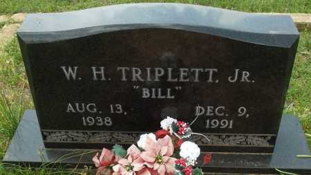 TRIPLETT, JR, WILLIAM H - Lafayette County, Arkansas   WILLIAM H TRIPLETT, JR - Arkansas Gravestone Photos