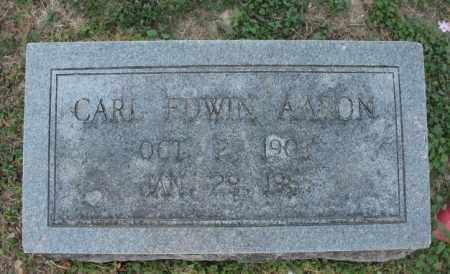AARON, CARL EDWIN - Lawrence County, Arkansas | CARL EDWIN AARON - Arkansas Gravestone Photos