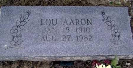 AARON, LOU - Lawrence County, Arkansas | LOU AARON - Arkansas Gravestone Photos