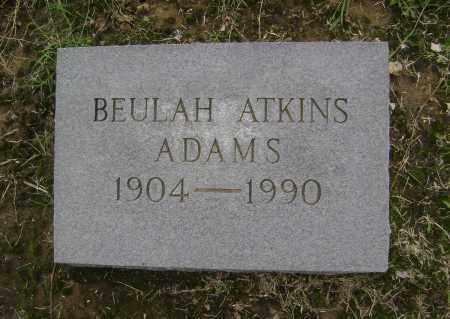 ADAMS, BEULAH - Lawrence County, Arkansas   BEULAH ADAMS - Arkansas Gravestone Photos