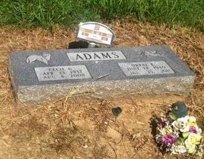ADAMS, ORPAL EARLENE - Lawrence County, Arkansas | ORPAL EARLENE ADAMS - Arkansas Gravestone Photos