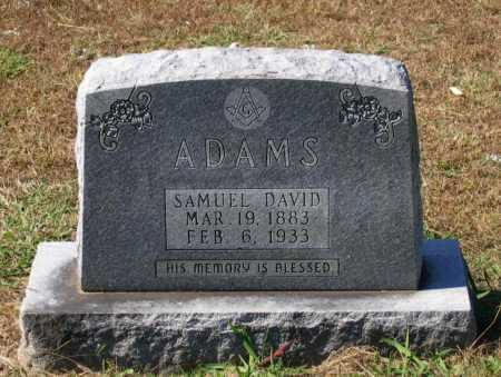ADAMS, SAMUEL DAVID - Lawrence County, Arkansas | SAMUEL DAVID ADAMS - Arkansas Gravestone Photos