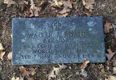 ADAMS (VETERAN WWI), WALTER ANDREW - Lawrence County, Arkansas | WALTER ANDREW ADAMS (VETERAN WWI) - Arkansas Gravestone Photos
