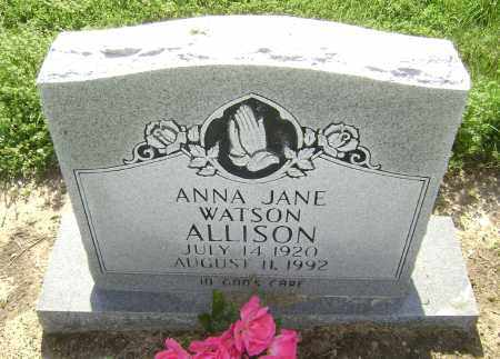 ALLISON, ANNA JANE - Lawrence County, Arkansas   ANNA JANE ALLISON - Arkansas Gravestone Photos