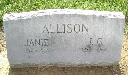 ALLISON, JANIE - Lawrence County, Arkansas   JANIE ALLISON - Arkansas Gravestone Photos