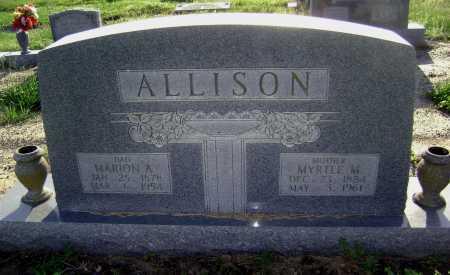 ALLISON, MARION A. - Lawrence County, Arkansas | MARION A. ALLISON - Arkansas Gravestone Photos