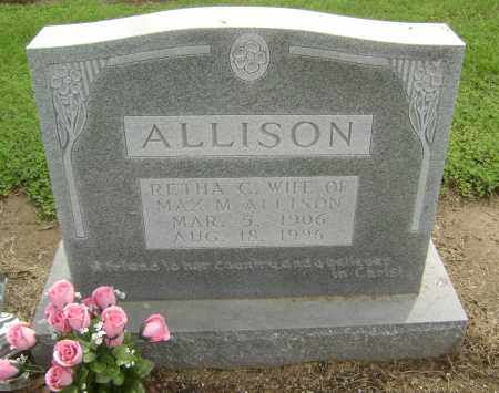ALLISON, RETHA C. - Lawrence County, Arkansas | RETHA C. ALLISON - Arkansas Gravestone Photos