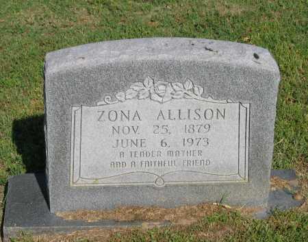 ALLISON, ZONA - Lawrence County, Arkansas | ZONA ALLISON - Arkansas Gravestone Photos