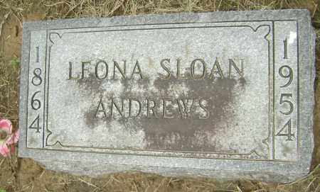 SLOAN ANDREWS, LEONA LORENE - Lawrence County, Arkansas | LEONA LORENE SLOAN ANDREWS - Arkansas Gravestone Photos