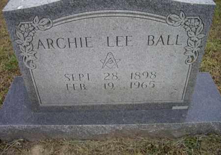 BALL, ARCHIE LEE - Lawrence County, Arkansas   ARCHIE LEE BALL - Arkansas Gravestone Photos