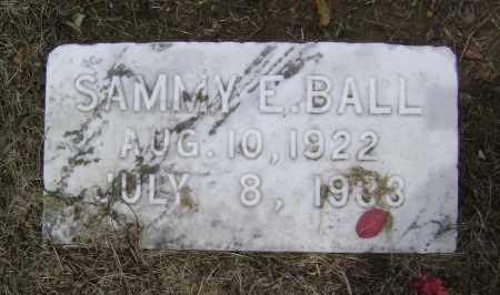BALL, SAMMY E. - Lawrence County, Arkansas   SAMMY E. BALL - Arkansas Gravestone Photos