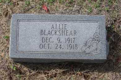 BLACKSHEAR, ALLIE - Lawrence County, Arkansas | ALLIE BLACKSHEAR - Arkansas Gravestone Photos