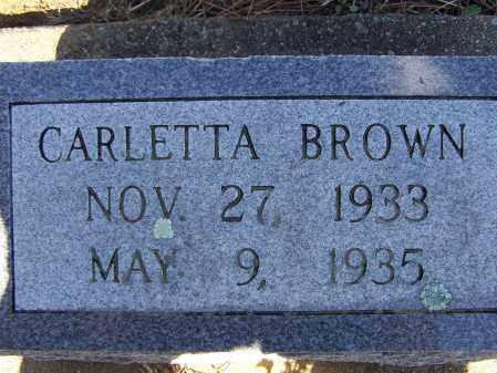 BROWN, CARLETTA - Lawrence County, Arkansas   CARLETTA BROWN - Arkansas Gravestone Photos
