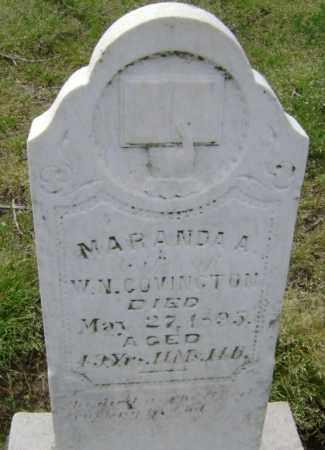 COVINGTON, MARANDA A. - Lawrence County, Arkansas   MARANDA A. COVINGTON - Arkansas Gravestone Photos