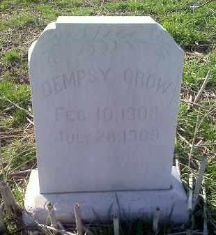 CROW, DEMPSY - Lawrence County, Arkansas   DEMPSY CROW - Arkansas Gravestone Photos