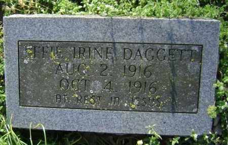 DAGGETT, EFFIE IRINE - Lawrence County, Arkansas | EFFIE IRINE DAGGETT - Arkansas Gravestone Photos