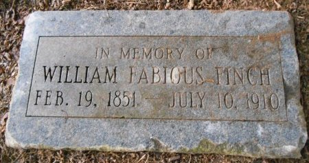 FINCH, WILLIAM FABIOUS - Lawrence County, Arkansas | WILLIAM FABIOUS FINCH - Arkansas Gravestone Photos
