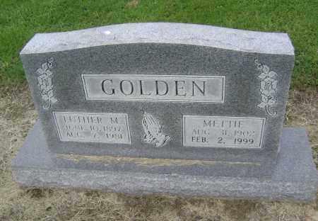 GOLDEN, METTIE G. - Lawrence County, Arkansas | METTIE G. GOLDEN - Arkansas Gravestone Photos