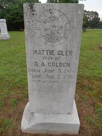 GOLDEN, MATTIE GLEN - Lawrence County, Arkansas | MATTIE GLEN GOLDEN - Arkansas Gravestone Photos