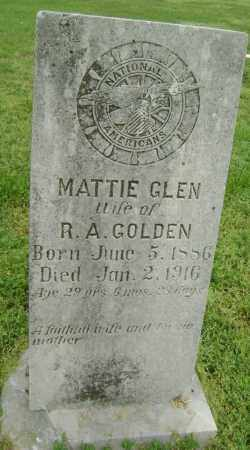 GLEN GOLDEN, MATTIE - Lawrence County, Arkansas | MATTIE GLEN GOLDEN - Arkansas Gravestone Photos