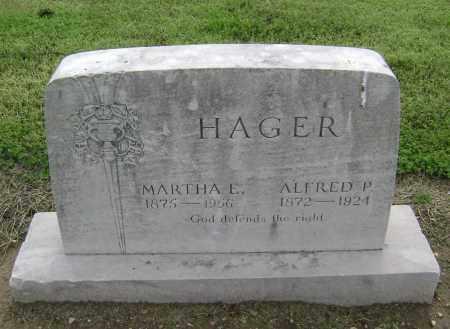 HAGER, ALFRED P. - Lawrence County, Arkansas | ALFRED P. HAGER - Arkansas Gravestone Photos