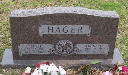 HAGER, PAROLEE - Lawrence County, Arkansas   PAROLEE HAGER - Arkansas Gravestone Photos