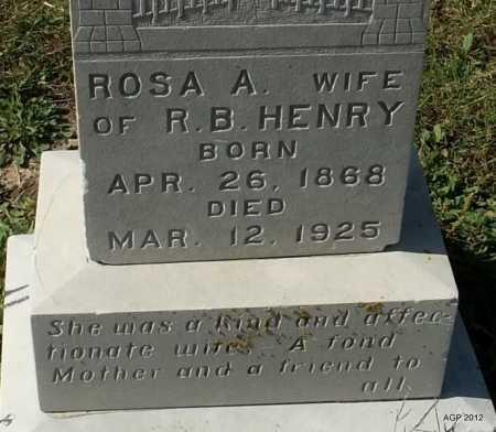 HENRY, ROSA A (CLOSE UP) - Lawrence County, Arkansas   ROSA A (CLOSE UP) HENRY - Arkansas Gravestone Photos