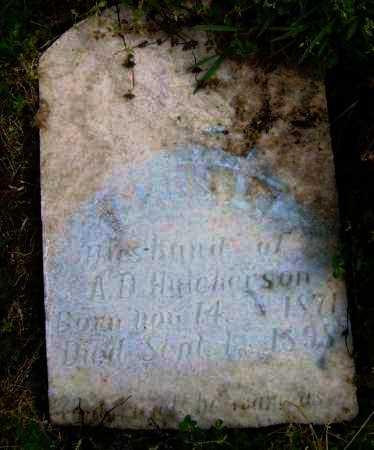 HUTCHERSON, JAMES L. - Lawrence County, Arkansas | JAMES L. HUTCHERSON - Arkansas Gravestone Photos