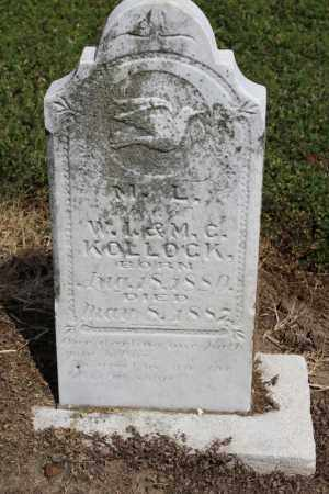 KOLLOCK, M L - Lawrence County, Arkansas   M L KOLLOCK - Arkansas Gravestone Photos