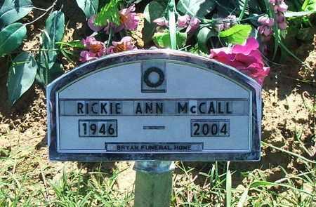 MCCALL, RICKIE ANN - Lawrence County, Arkansas | RICKIE ANN MCCALL - Arkansas Gravestone Photos