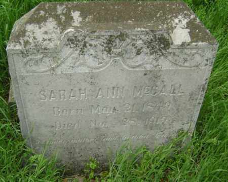 MCCALL, SARAH ANN MOSELEY RANEY - Lawrence County, Arkansas | SARAH ANN MOSELEY RANEY MCCALL - Arkansas Gravestone Photos