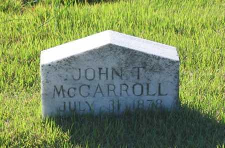 MCCARROLL, JOHN THOMAS - Lawrence County, Arkansas   JOHN THOMAS MCCARROLL - Arkansas Gravestone Photos