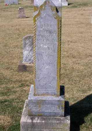 MCCARROLL, JANE BALFOUR - Lawrence County, Arkansas   JANE BALFOUR MCCARROLL - Arkansas Gravestone Photos