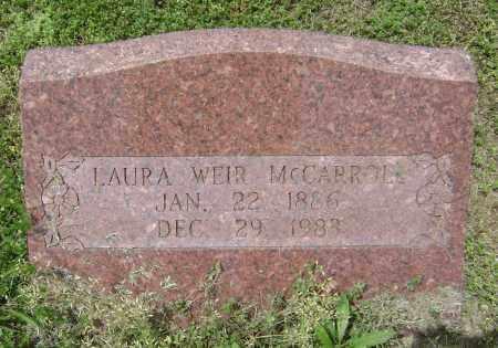 MCCARROLL, LAURA BELLE - Lawrence County, Arkansas | LAURA BELLE MCCARROLL - Arkansas Gravestone Photos