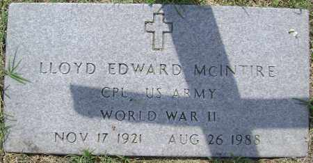 MCINTIRE (VETERAN WWII), LLOYD EDWARD - Lawrence County, Arkansas | LLOYD EDWARD MCINTIRE (VETERAN WWII) - Arkansas Gravestone Photos