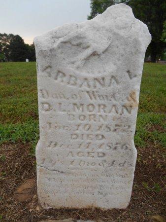 MORAN, ARBANA L - Lawrence County, Arkansas   ARBANA L MORAN - Arkansas Gravestone Photos