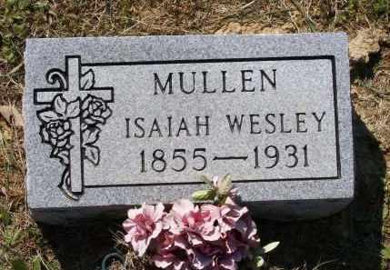 MULLEN, ISAIAH WESLEY - Lawrence County, Arkansas | ISAIAH WESLEY MULLEN - Arkansas Gravestone Photos