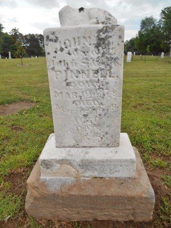 PINNELL, JOHN T - Lawrence County, Arkansas   JOHN T PINNELL - Arkansas Gravestone Photos