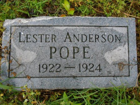 POPE, LESTER ANDERSON - Lawrence County, Arkansas   LESTER ANDERSON POPE - Arkansas Gravestone Photos