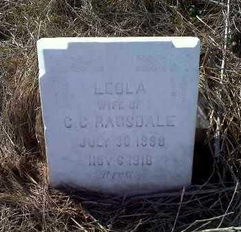 BEACH RAGSDALE, LEOLA - Lawrence County, Arkansas | LEOLA BEACH RAGSDALE - Arkansas Gravestone Photos