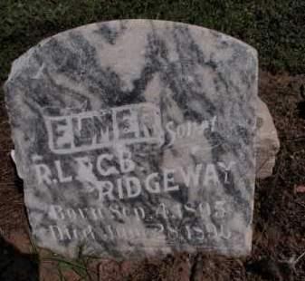 RIDGEWAY, ELMER - Lawrence County, Arkansas | ELMER RIDGEWAY - Arkansas Gravestone Photos