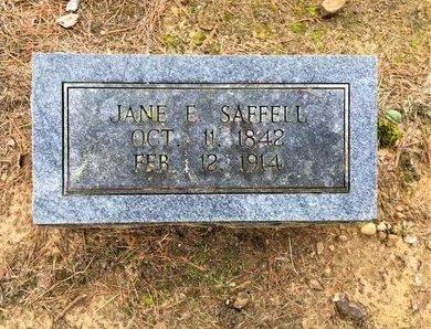 SAFFELL, JANE ELIZABETH - Lawrence County, Arkansas   JANE ELIZABETH SAFFELL - Arkansas Gravestone Photos