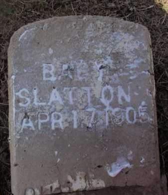 SLATTON, BABY - Lawrence County, Arkansas | BABY SLATTON - Arkansas Gravestone Photos
